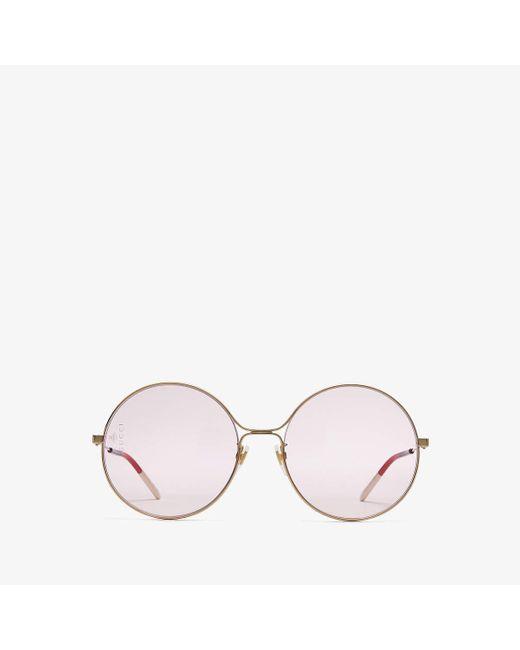 Gucci Pink GG0395S 004 Women's Sunglasses