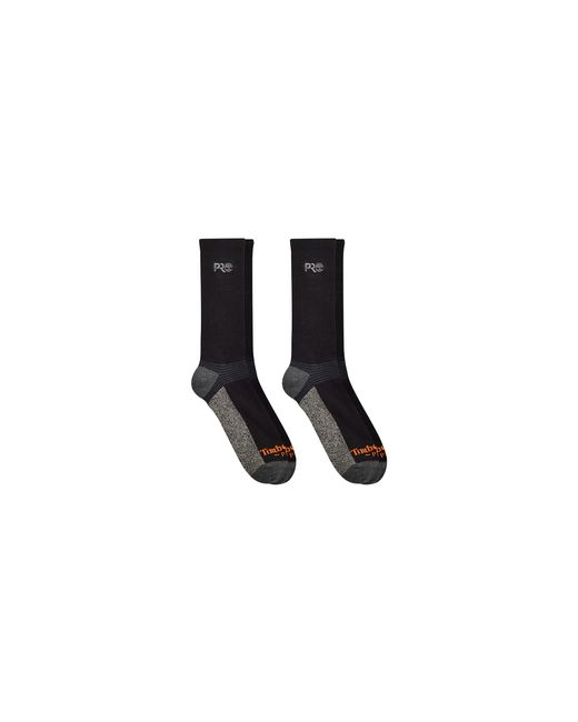 Timberland Black 2-pack Crew Socks With Reflective Logo for men