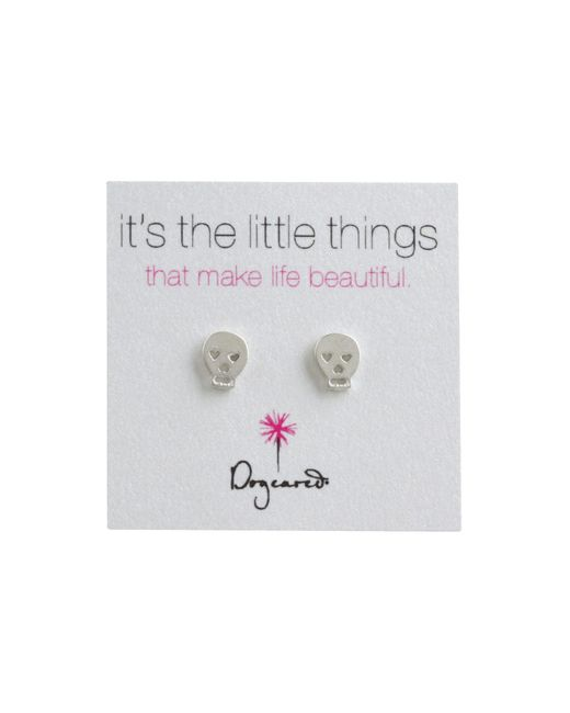 Dogeared - Metallic It's The Little Things Earrings Skull - Lyst