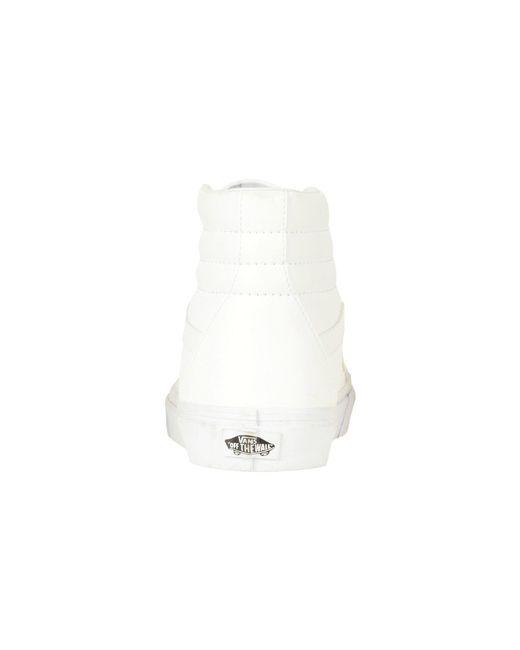 2813893f75d Lyst - Vans Sk8-hi Reissue ((leather fleece) Black true White 2 ...