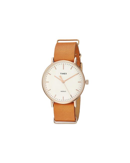 Timex - Brown Fairfield Nato Slip-thru Strap 3-hand (black/white) Watches for Men - Lyst