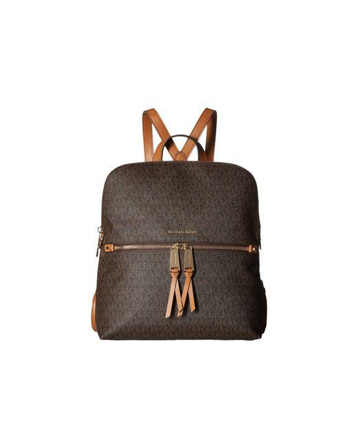 3f7fa2be25c3 MICHAEL Michael Kors - Rhea Zip Medium Slim Backpack (brown) Backpack Bags  - Lyst ...