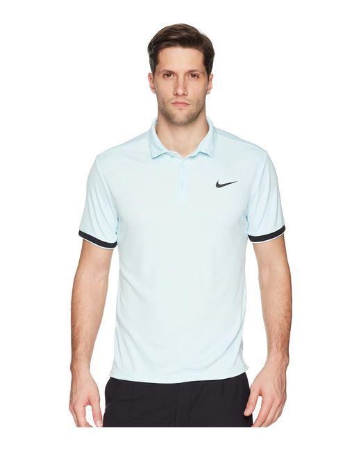 Nike - Blue Court Dry Tennis Polo (white/black/cool Grey/black) Men's Clothing for Men - Lyst