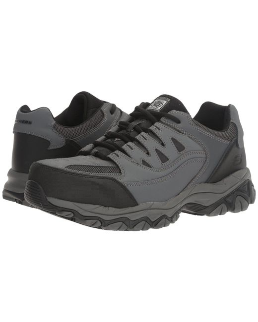 Skechers Work - Holdredge (gray Action Leather/trim) Men's Shoes for Men - Lyst