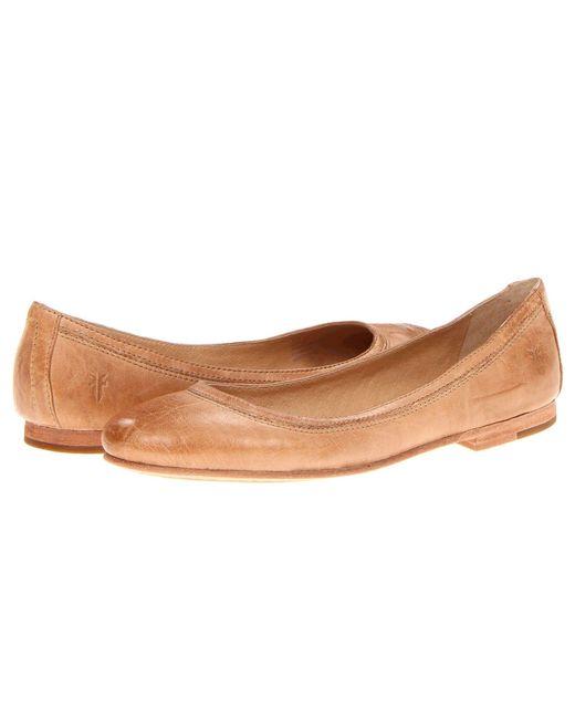 Frye - Natural Carson Ballet Flats - Lyst