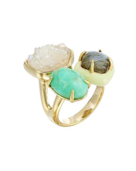 Alexis Bittar - Metallic Druzy Stone Cluster Cocktail Ring (10k Gold) Ring - Lyst