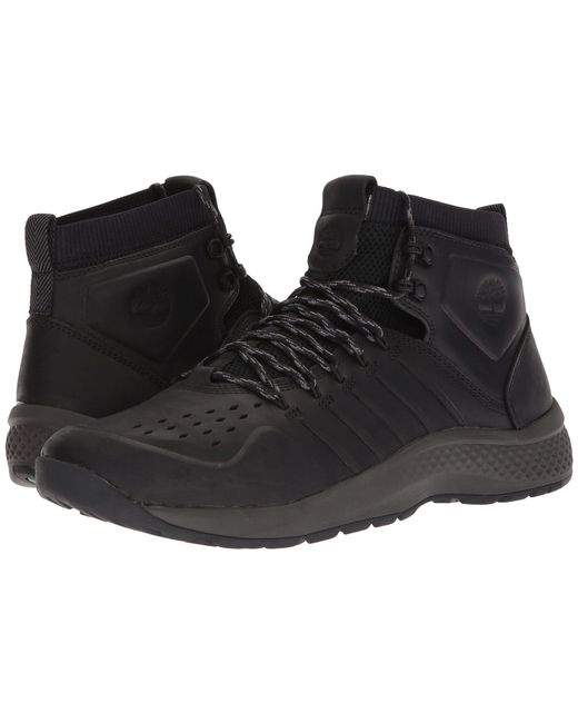 Timberland - Black Flyroam Trail Mid Leather for Men - Lyst