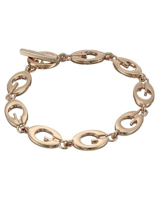 Guess - Metallic Link Bracelet Iii (rose Gold) Bracelet - Lyst