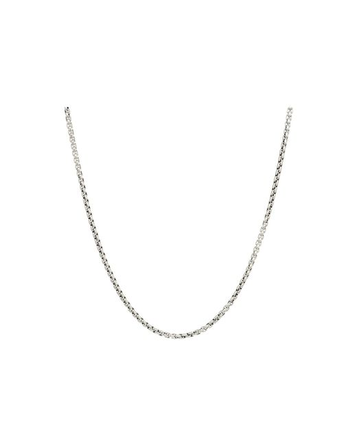 John Hardy Metallic 2.6mm Box Chain Necklace Size 22 for men