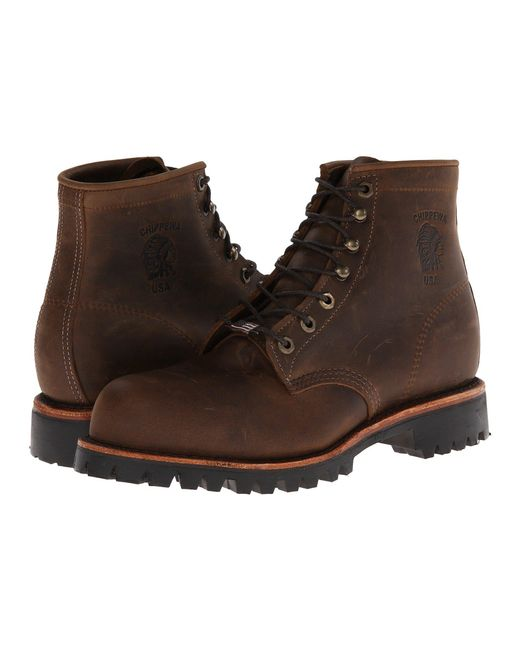 Chippewa - Brown Apache Steel Toe Lace Up (chocolate) Men's Boots for Men - Lyst