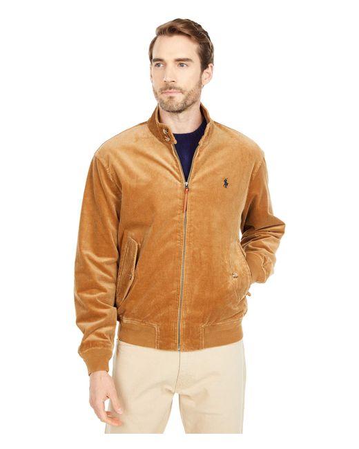 Polo Ralph Lauren Brown Corduroy Barracuda Jacket for men