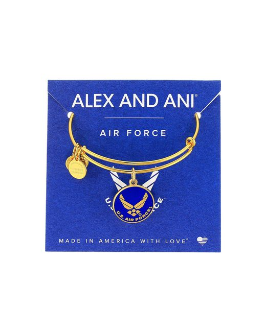 ALEX AND ANI - Metallic Us Air Force (gold) Bracelet - Lyst