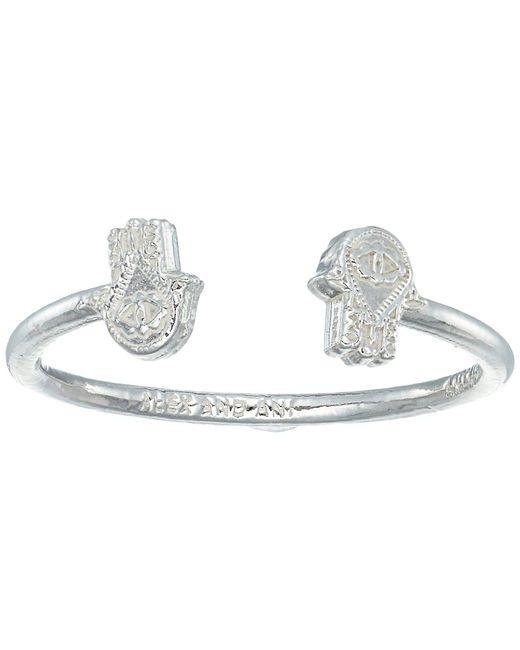 ALEX AND ANI | Metallic Hand Of Fatima Ring | Lyst