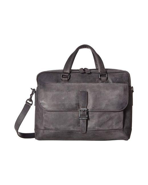 Frye - Black Oliver 2 Handle (slate Smooth Pull Up) Top-handle Handbags for Men - Lyst