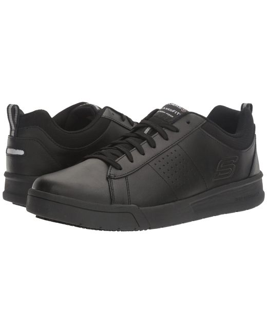 Skechers Work - Glenner (black Leather/trim) Men's Shoes for Men - Lyst