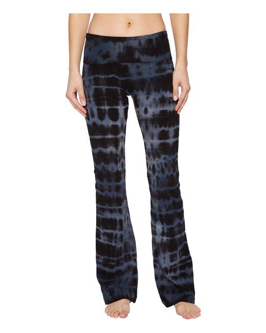 Hard Tail - Blue Rolldown Bootleg Flare Pants (cloud Wash 1) Women's Casual Pants - Lyst