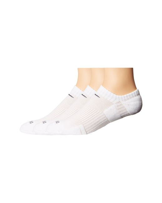 Nike - Dri-fit Cushion No Show 3 Pack (white/flint Grey) No Show Socks Shoes for Men - Lyst