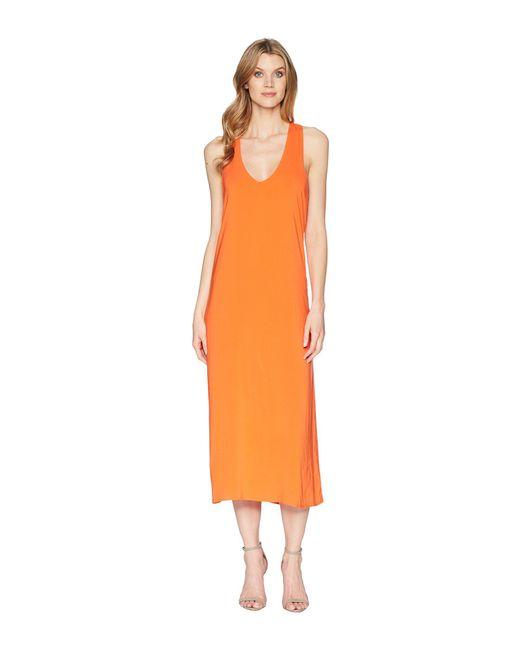 Kenneth Cole - Orange Twist Back Tank Dress - Lyst