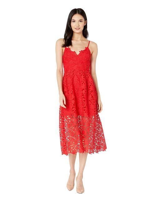 d7e26f0f8611 Astr Lace A-line Midi Dress (bright Red) Women's Dress in Red - Lyst