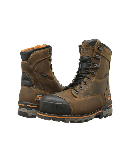 """Timberland - Brown Boondock 8"""" Comp Toe Wp for Men - Lyst"""