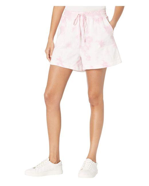 Vince Camuto Pink Drawstring Tie-dye Shorts Shorts
