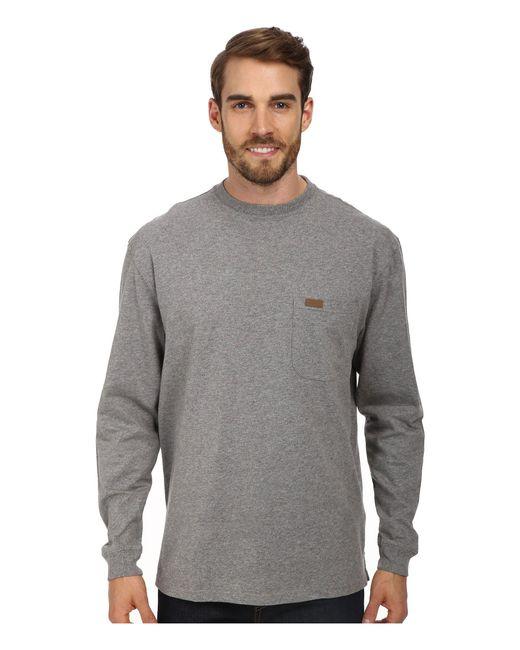 Pendleton - Gray Long Sleeve Deschutes Pocket Tee (black) Men's T Shirt for Men - Lyst