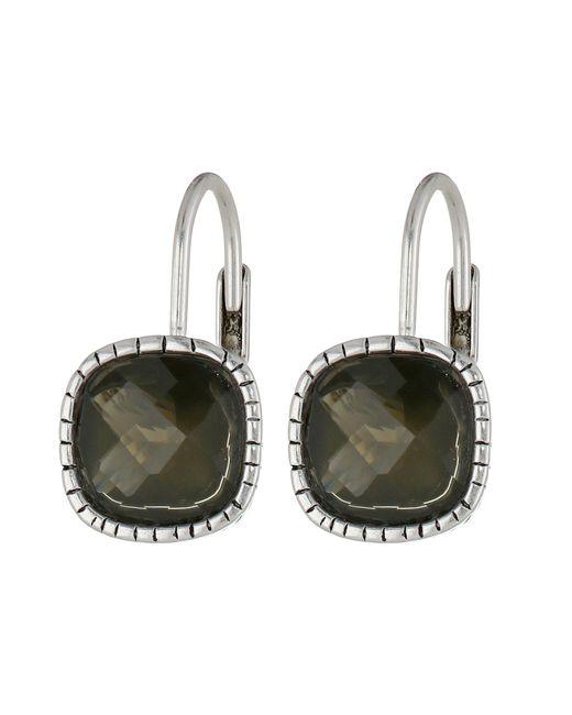 The Sak - Black Cushion Stone Leverback Earrings - Lyst