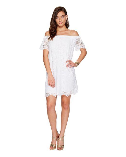 Lilly Pulitzer - Marble Dress (resort White Marine Tropic Lace) Women's Dress - Lyst