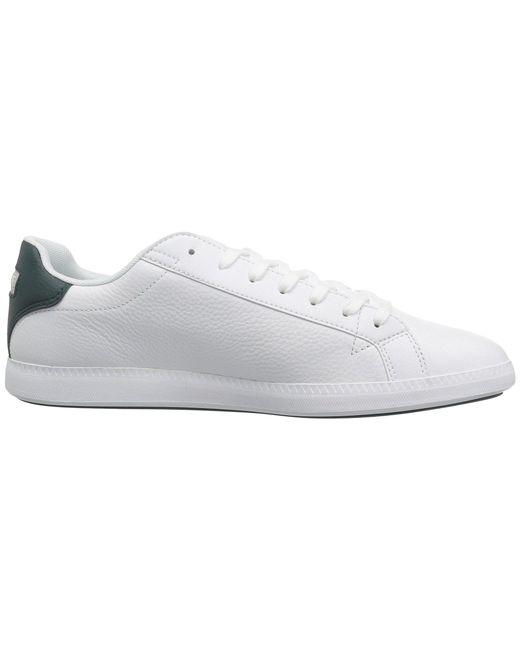 3a1d56e37c140 ... Lacoste - Graduate Lcr3 118 1 (white dark Green) Men s Shoes for Men ...