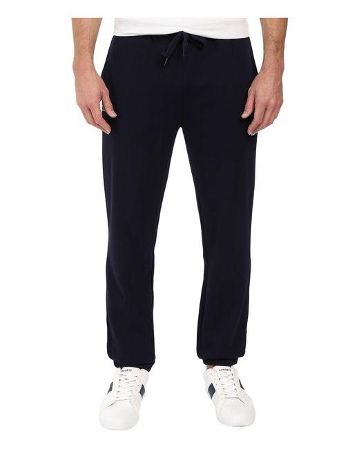 Lacoste Blue Sport Fleece Pants With Elastic Leg Opening for men