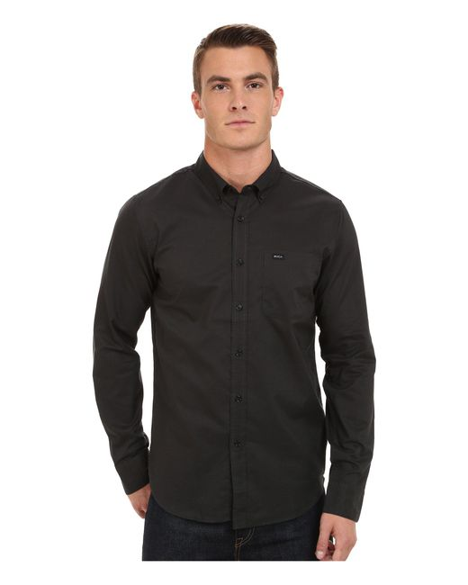 RVCA | Black That'll Do Oxford Long Sleeve for Men | Lyst