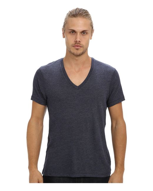 Alternative Apparel Blue Boss V-neck Tee for men