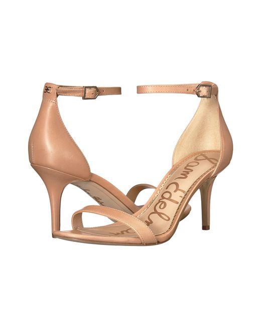 Sam Edelman - Natural Patti Strappy Sandal Heel (light Gold Leather) High Heels - Lyst
