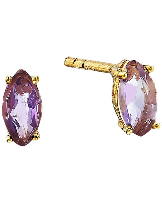 Shashi - Multicolor Casey Stud Earrings (gold Amethyst) Earring - Lyst
