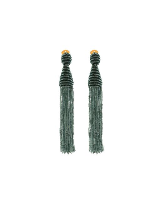 Oscar de la Renta - Multicolor Long Beaded Tassel C Earrings - Lyst