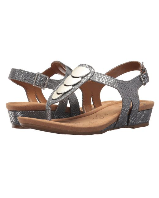 Comfortiva - Multicolor Summit (black Goat Leather Pull Up) Women's Sandals - Lyst