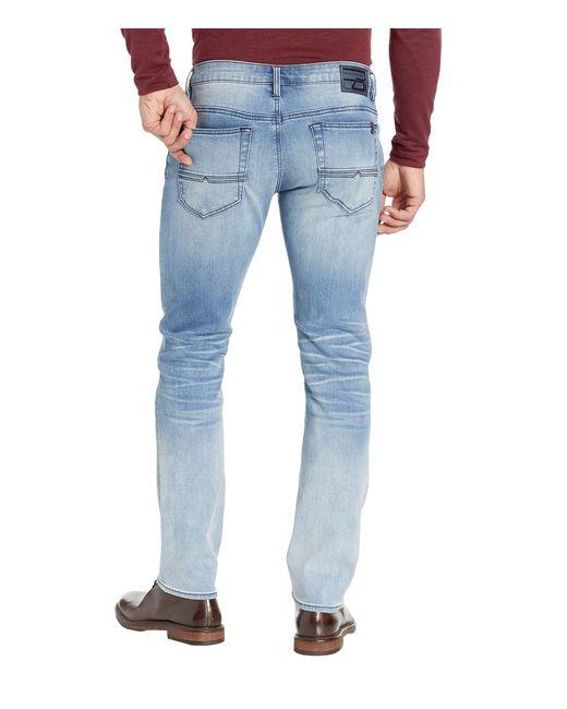 Buffalo David Bitton Ash-X Crinkled//Bleached Indigo Slim Stretch Jeans