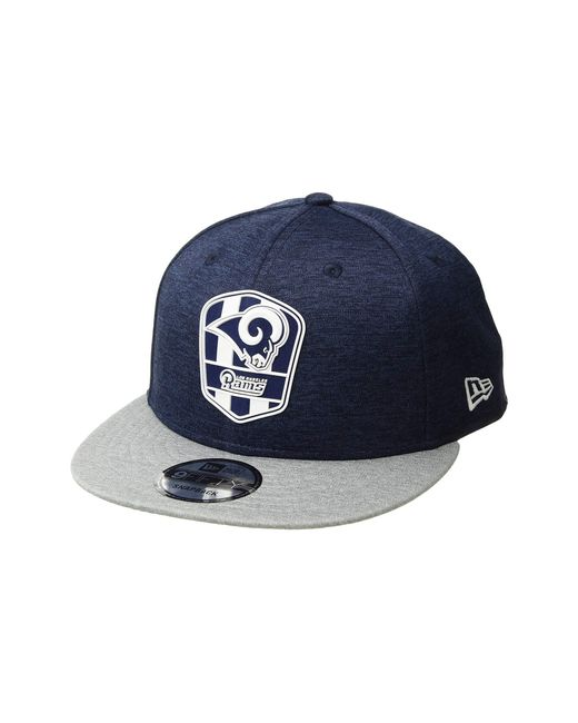 9bc9af27b22 KTZ - 9fifty Official Sideline Away Snapback - Los Angeles Rams (grey blue)  ...