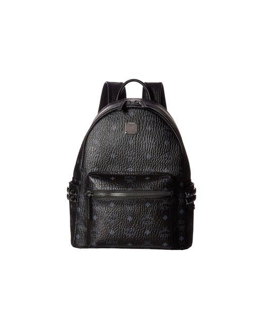 MCM Black Stark Side Stud Small Backpack