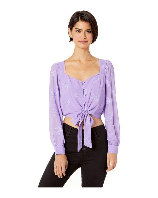 Astr Purple Cruz Top