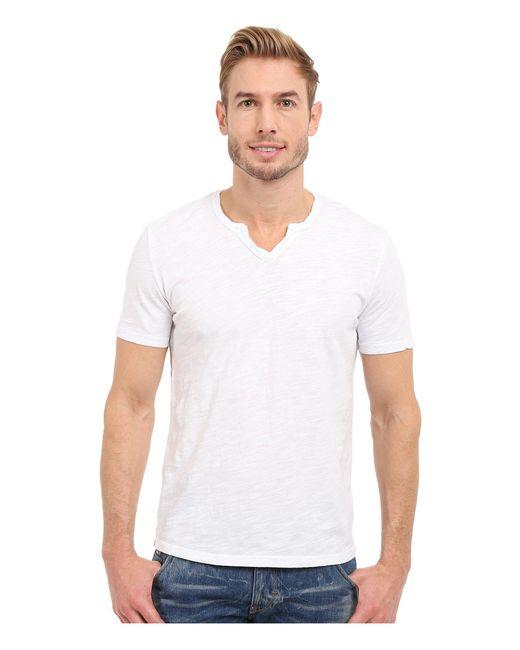 Mod-o-doc - White Topanga Short Sleeve Notch V-neck Tee (grey Sky) Men's T Shirt for Men - Lyst