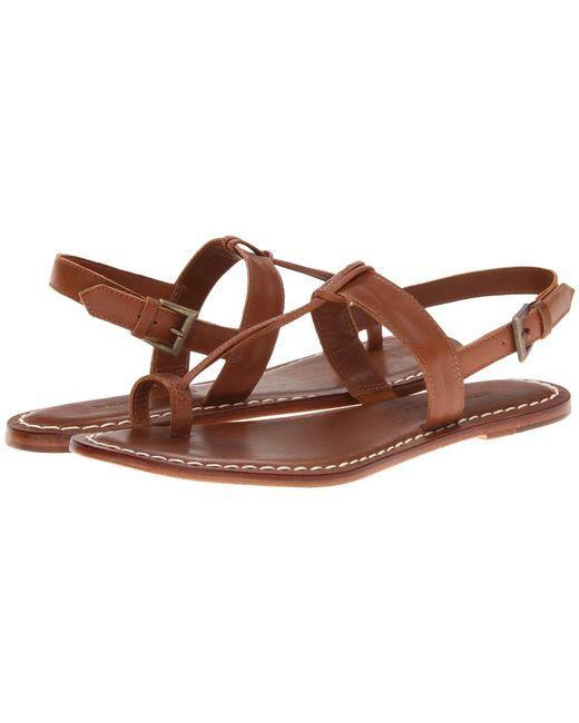 Bernardo | Brown Maverick Leather Toe Ring Sandals | Lyst
