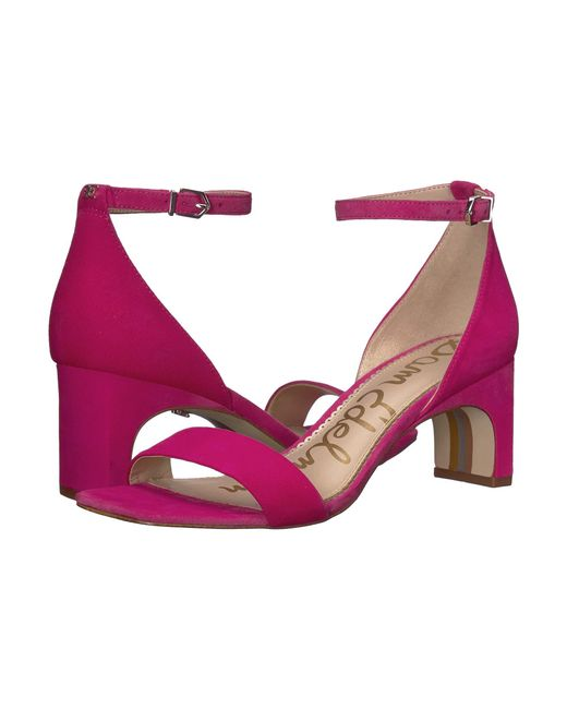11dd9646e8e1 Sam Edelman - Pink Holmes (black Kid Suede Leather) Women s Shoes - Lyst ...