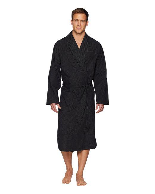 Polo Ralph Lauren - Black Woven Robe (soho Plaid) Men's Robe for Men - Lyst