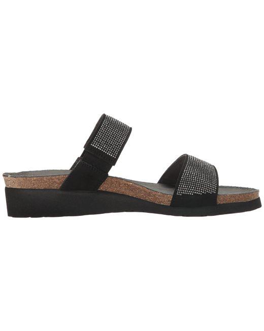 f1d809030780 ... Naot - Bianca (black Microfiber silver Rivets black Velvet Nubuck)  Women s Sandals ...