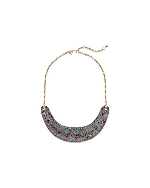 Alexis Bittar - Multicolor Crescent Bib Necklace (abalone Pattern) Necklace - Lyst