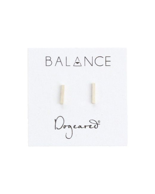 Dogeared - Metallic Balance Flat Bar Stud Earrings (gold) Earring - Lyst