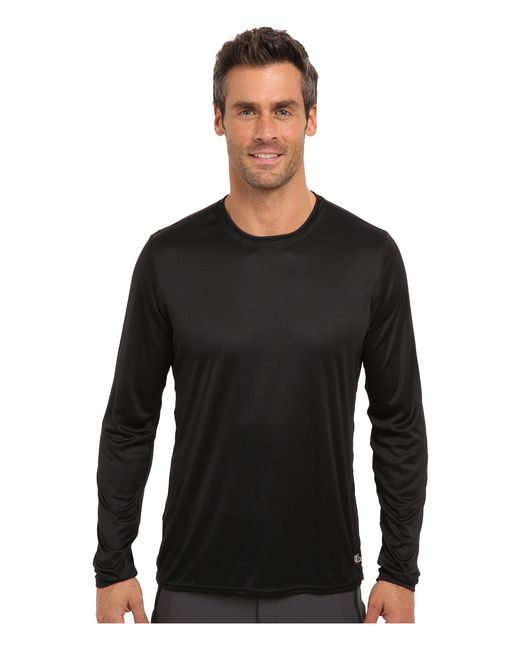Hot Chillys - Black Peach Solid Crewneck (noche) Men's Long Sleeve Pullover for Men - Lyst
