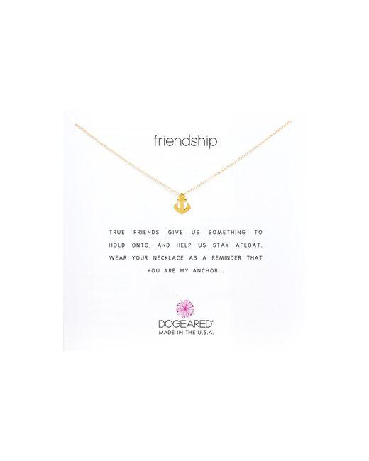 Dogeared Metallic Friendship Anchor Reminder Necklace
