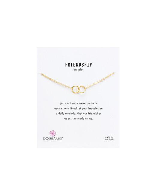 Dogeared - Metallic Friendship Double Linked Rings Chain Bracelet (gold Dipped) Bracelet - Lyst
